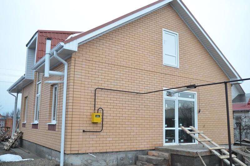построенный дом (в Краснодарском крае)